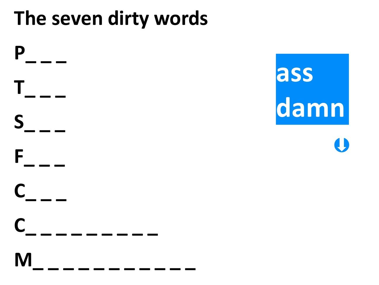 Is Ass A Curse Word 86